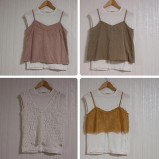 ミスティウーマン(mysty woman)の白T1枚➕ビスチェ4枚(Tシャツ(半袖/袖なし))