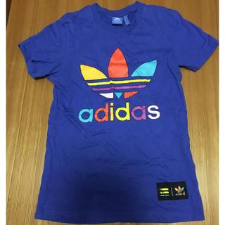 アディダス(adidas)のミーちゃんさん専用 adidas ブルー Tシャツ XS(Tシャツ(半袖/袖なし))