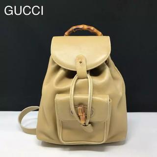 グッチ(Gucci)の正規品 グッチ バンブー レザー リュック(リュック/バックパック)