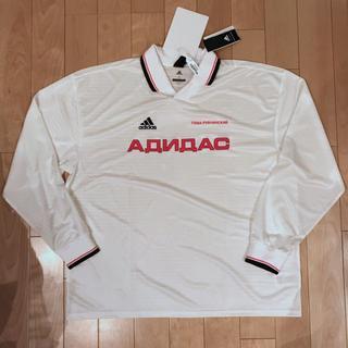 アディダス(adidas)のゴーシャラブチンスキー GOSHA RUBCHINSKIY サッカーシャツ 白(Tシャツ/カットソー(七分/長袖))