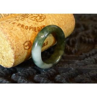 J446 980円 ヒスイ翡翠リング指輪 9.5号 ジェイド ミックスカラー(リング(指輪))