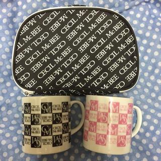 セシルマクビー(CECIL McBEE)のセシルマクビー 3点セット マグカップ&ポーチ(食器)