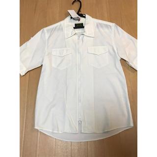 【美品】291295=HOMMEの半袖白シャツ