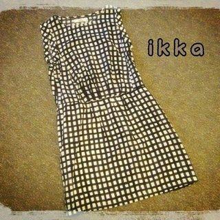 イッカ(ikka)のikka ブロックチェックワンピース(ひざ丈ワンピース)