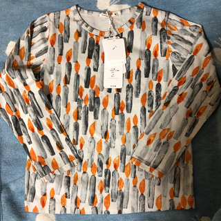 ミナペルホネン(mina perhonen)のミナペルホネン キャンドル 120 キッズ ロンT エクリュ(Tシャツ/カットソー)