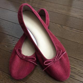 ムジルシリョウヒン(MUJI (無印良品))の新品未使用❗️ 無印良品コーデュロイペタンコ靴(ハイヒール/パンプス)