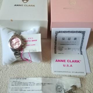 アンクラーク(ANNE CLARK)のアン クラーク ダイアモンドクロノ ピンクフェイス(腕時計)