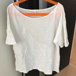 ムジルシリョウヒン(MUJI (無印良品))の無印良品 カットソー Tシャツ ホワイト M(Tシャツ(半袖/袖なし))