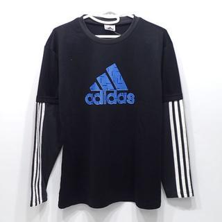 アディダス(adidas)のC277 中古 アディダス 長袖 ポリエステル 黒 キッズ(Tシャツ/カットソー)