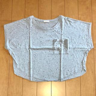 ジーユー(GU)のサイズ S*穴開き加工Tシャツ*gu(Tシャツ(半袖/袖なし))