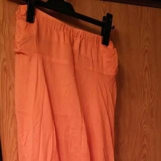 ゴム(gomme)の美品 gomme 立体型ロングスカート(ロングスカート)