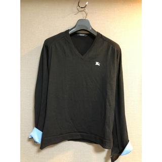 バーバリーブラックレーベル(BURBERRY BLACK LABEL)のBurberry black label 薄手ニット 黒 サイズ2(ニット/セーター)