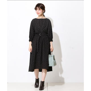 ナチュラルクチュール(natural couture)のkkrr234さま専用/ボートネックタックワンピース(その他)
