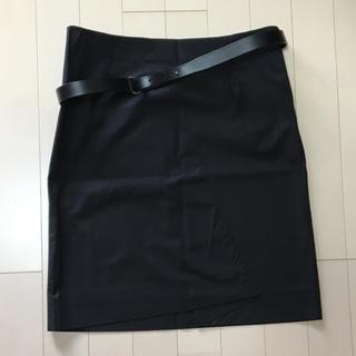 ジャンコロナ(JEAN COLONNA)のジャンコロナ スカート 本革ベルト付き(ひざ丈スカート)