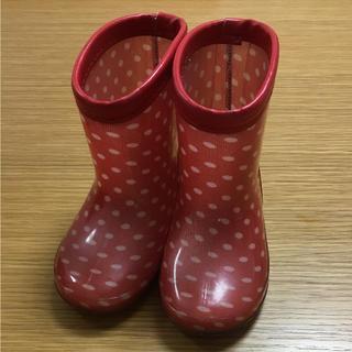 おまみさま専用長靴 14センチ 赤水玉 ドット(長靴/レインシューズ)