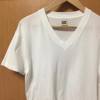 ジーティーホーキンス(G.T. HAWKINS)の未使用 GT Tシャツ Vネック 白(Tシャツ/カットソー(半袖/袖なし))