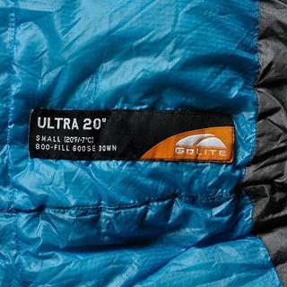 ゴーライト(GoLite)の希少美品 GOLITE ULTRA 20 ゴーライト ウルトラ20 寝袋(寝袋/寝具)