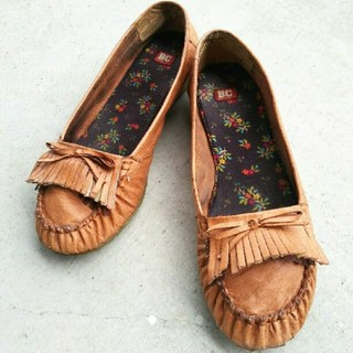 BCfootwear モカシンシューズ*24cm*キャメル*カジュアル*トラッド(スリッポン/モカシン)