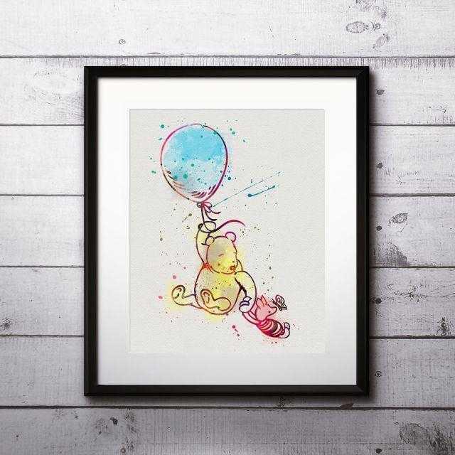 Disney(ディズニー)のくまのプーさん&ピグレット2・アートポスター【額縁つき・送料無料!】 エンタメ/ホビーのアニメグッズ(ポスター)の商品写真