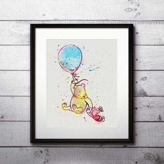 ディズニー(Disney)のくまのプーさん&ピグレット2・アートポスター【額縁つき・送料無料!】(ポスター)