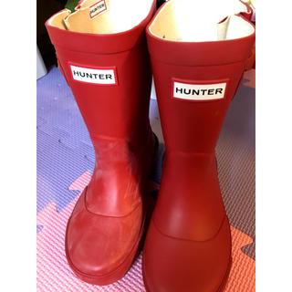 ハンター(HUNTER)の新品未使用 ハンター ラバーブーツ 長靴 マット レッド 赤(長靴/レインシューズ)