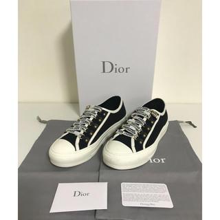 クリスチャンディオール(Christian Dior)のディオール ブラック キャンバス ローカットスニーカー(スニーカー)