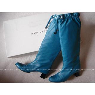 マークジェイコブス(MARC JACOBS)の美品 マークジェイコブス 青 ロングブーツ(ブーツ)
