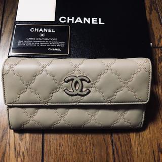 シャネル(CHANEL)のシャネルラムスキン長財布(財布)