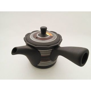 竹春黒桶型フリルビリ/常滑焼(食器)