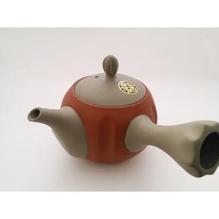 人水グレー福丸赤塗/常滑焼(食器)