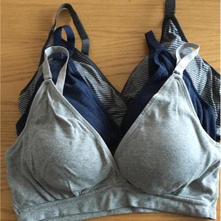 ムジルシリョウヒン(MUJI (無印良品))の無印良品 授乳ブラ3枚セット L(マタニティ下着)