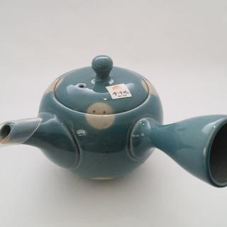一心丸型ブルー水玉/常滑焼(食器)