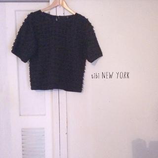 バーニーズニューヨーク(BARNEYS NEW YORK)のtibi NEW YORK トップス ティビ(カットソー(半袖/袖なし))