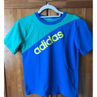 アディダス(adidas)のアディダス Tシャツ 150サイズ相当 青(Tシャツ/カットソー)