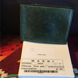 マルニ(Marni)のマルニ 財布 二つ折り グリーン 定期(折り財布)