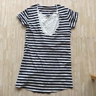 ムジルシリョウヒン(MUJI (無印良品))の無印良品 マタニティ授乳Tシャツ MーL(マタニティウェア)