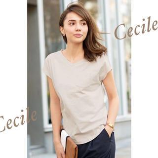 セシール(cecile)の♡Cecile♡コットンフレンチスリーブTシャツ♡(Tシャツ(半袖/袖なし))