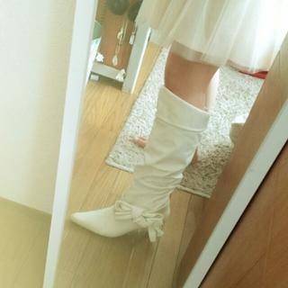 ホワイト ブーッ(ブーツ)