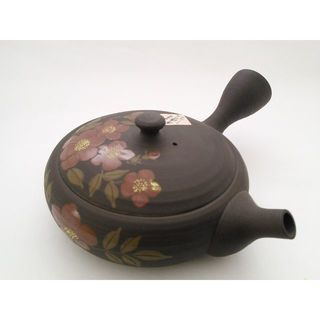 玉光茶極浅赤花/常滑焼(食器)