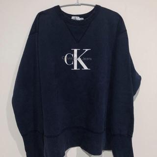 カルバンクライン(Calvin Klein)のCalvin Klein カルバンクライン スウェット 紺(スウェット)