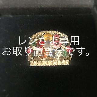 サファイア マルチカラーフラワーリング 18WG(リング(指輪))
