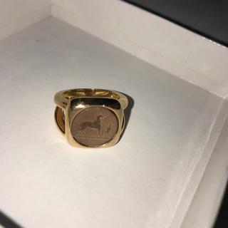 エルメス(Hermes)のHERMES ゴールドリング 17号 貴重なメンズサイズ(リング(指輪))