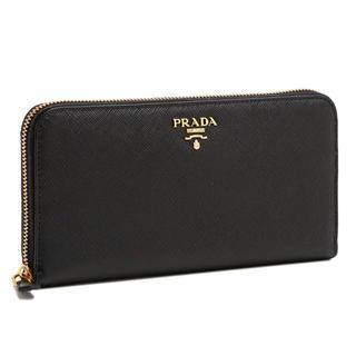 プラダ(PRADA)の【新品未使用】PRADA 長財布 ラウンドファスナー メタルロゴ 型押し レザー(財布)