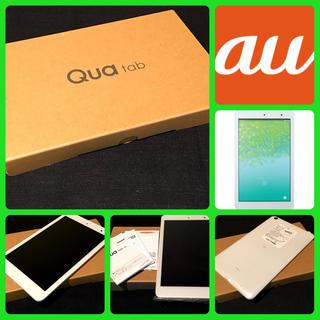 キョウセラ(京セラ)の【SIMフリー/新品未使用】au Qua Tab 01 KYT31/ホワイト(タブレット)