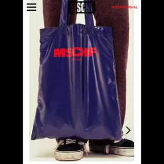 スタイルナンダ(STYLENANDA)の新品 MSCHF mischief ミスチーフ トートバッグ ネイビー(トートバッグ)