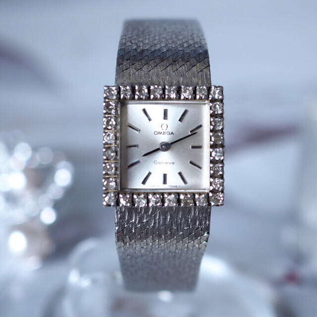 OMEGA - 美品・希少✨オメガ ダイヤベゼル 手巻き時計✨カルティエ ロレックスの通販