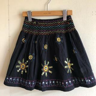 アンティックバティック(Antik batik)のANTIK BATIK  アンティックバティック  刺繍スカート エスニック(ミニスカート)