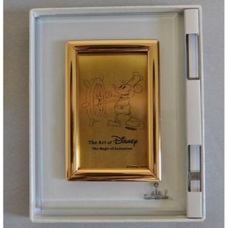 ディズニー(Disney)のディズニー・アート展 純金1g蒸気船ウィリー記念カード(彫刻/オブジェ)