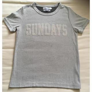 オールオーディナリーズ(ALL ORDINARIES)の半袖Tシャツ ロゴ  サガラ刺繍(Tシャツ(半袖/袖なし))
