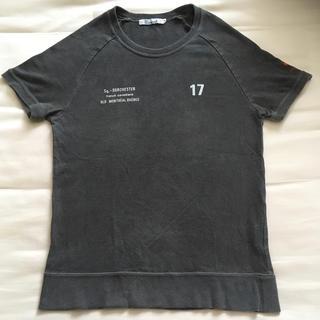 半袖Tシャツ バックプリント  袖プリント ラグランスリーブ 染め